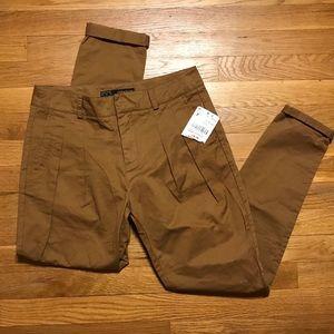 NWT Zara Women's pleated pants brown XS